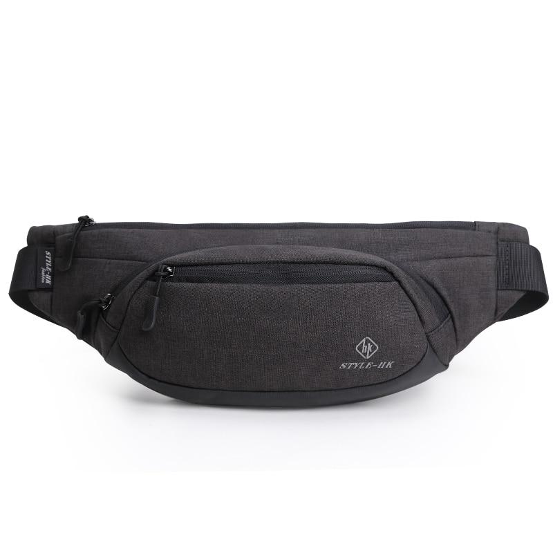 Hk Waist Bags Men's Casual Waist Pack Purse Mobile Phone Case For Men's Travel Belt Wallets