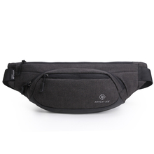 HK Waist Bags Men's Casual Waist Pack Purse Mobile Phone Case for Men's Travel Belt Wallets