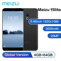 Meizu Mейзу 15 lite 4 GB 64 GB Octa Core 5,46 ''1920x1080 P мобильный телефон Snapdragon 626 спереди 20MP 3000 mAh отпечатков пальцев 4G Global версия