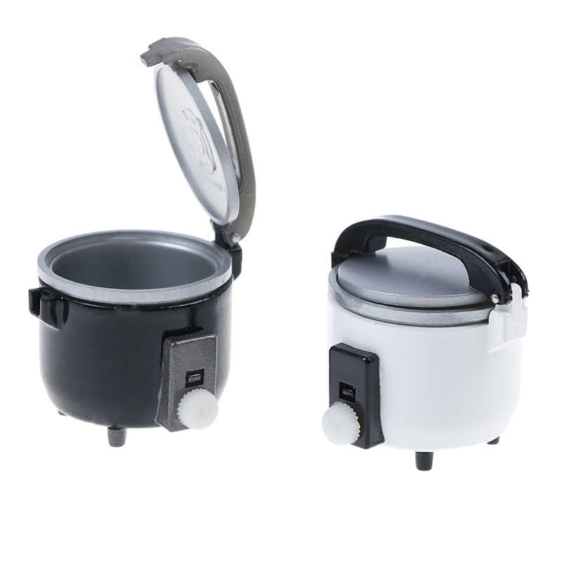 1pc New Miniature White Black Rice Cooker Kitchen Accessories Decoration Craft For 1:12 DIY Dollhouse Accessory Kids Toys