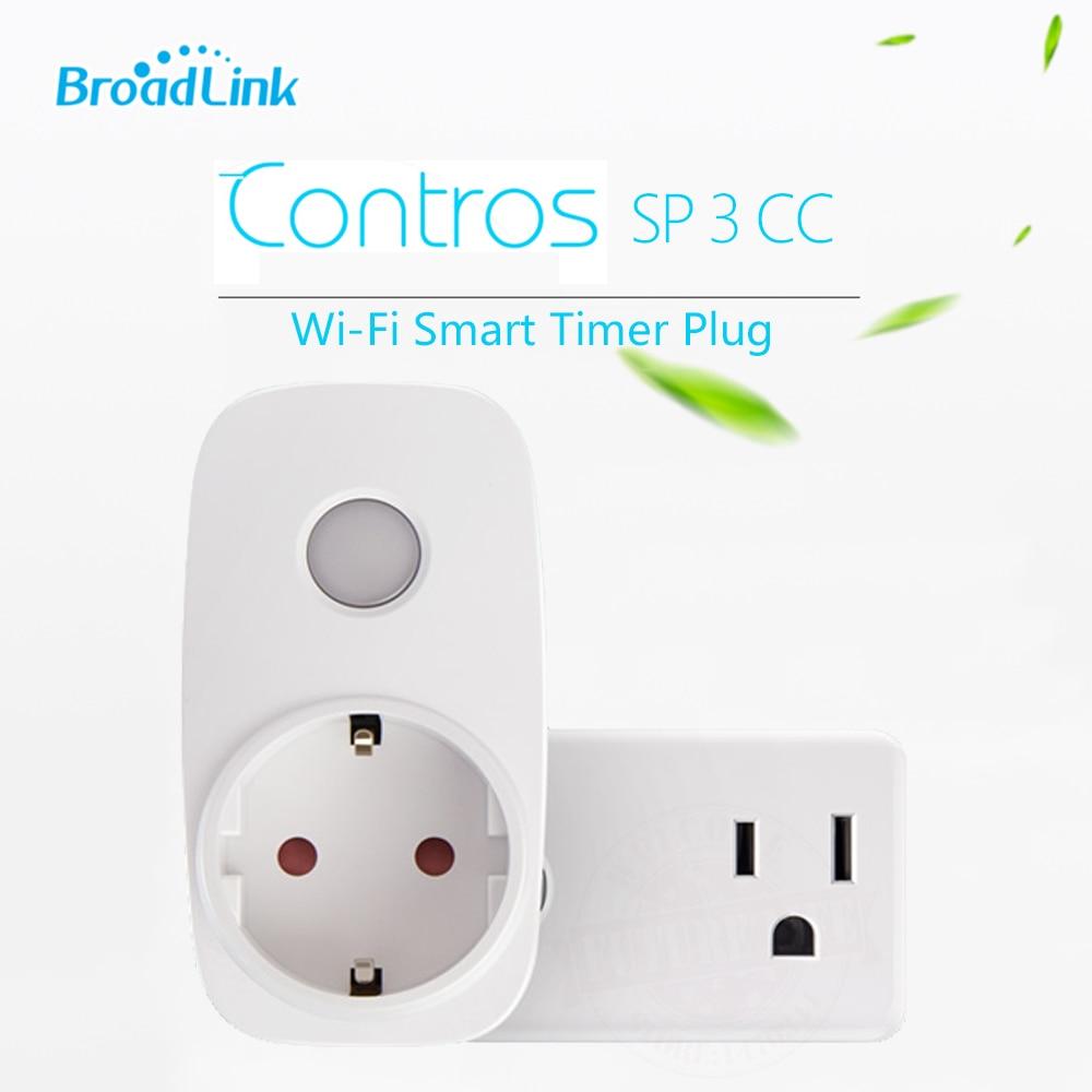 2017 Broadlink SP3 SP CC Maison Intelligente 16A + Minuterie US EU Wifi Prise de douille de Sortie Sans Fil Contrôles par iOS Android domotica