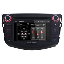 New Black 2 Din 7'' Android 4.4 Built-in wifi Car DVD Player GPS Navigation with 1080P Video Playback FOR Toyota RAV4 2006-2012