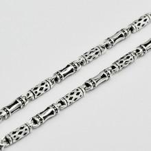 Стерлингового серебра 925 мужская длинный толстый крест звена цепи ожерелья ретро тайский серебряные ювелирные изделия (HY)