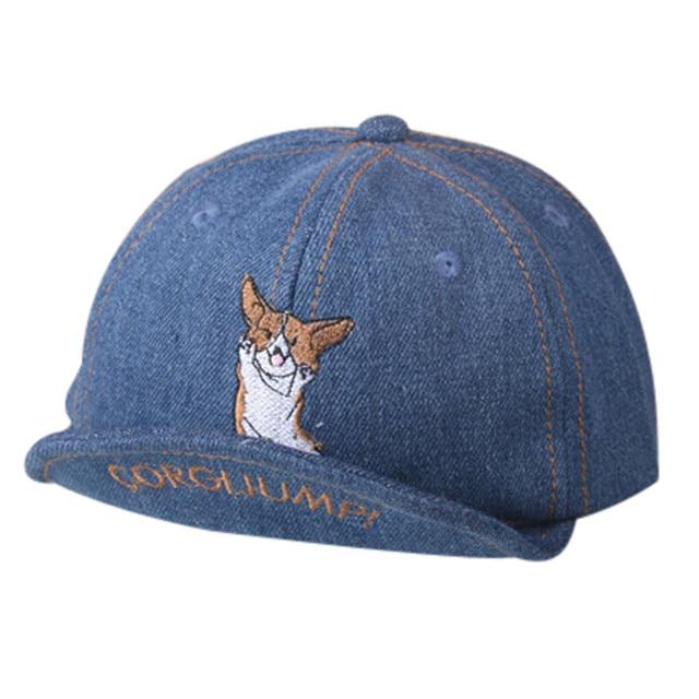 Leisure Baby Children s hats Baseball Cap Beanie For Boys Girls Dog  Embroidery Cowboy Hat Children Hats knit cap beard 67b8e2fb117