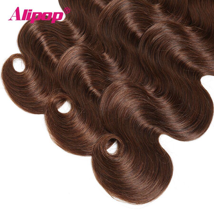 #4 Colored Body Wave Bundles Brazilian Hair 3 Bundles Light Brown Human Hair Weave Bundles Deals Hair Vendors Non Remy ALIPOP (5)