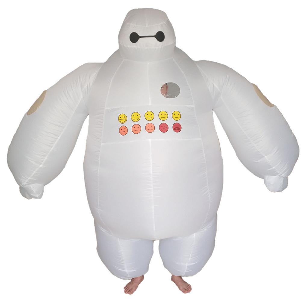 Femmes hommes Baymax Costume gonflable grand héros 6 déguisements mascotte Halloween adultes fête tenue carnaval Cosplay exploser Costume