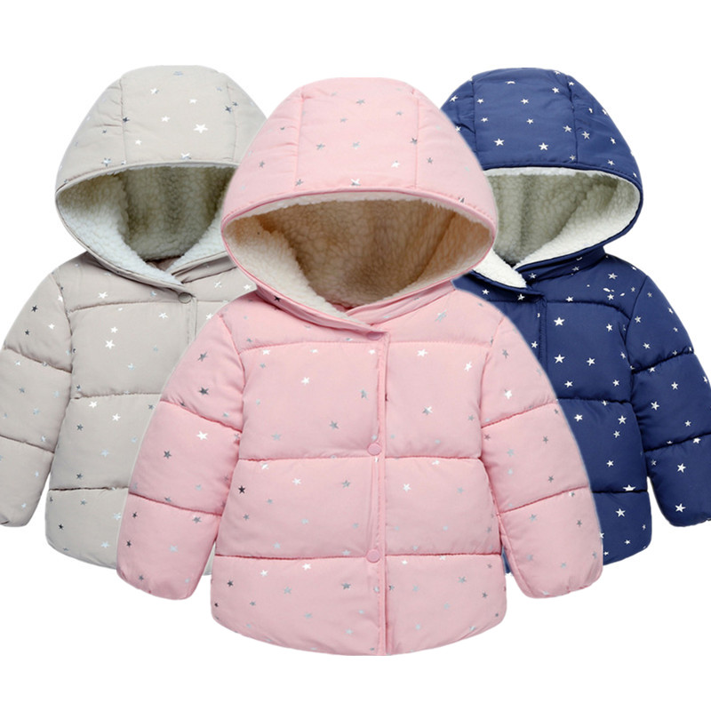 Jacket Coat Outerwear Girls Winter Fashion Children Warm Hooded Clothing Kids