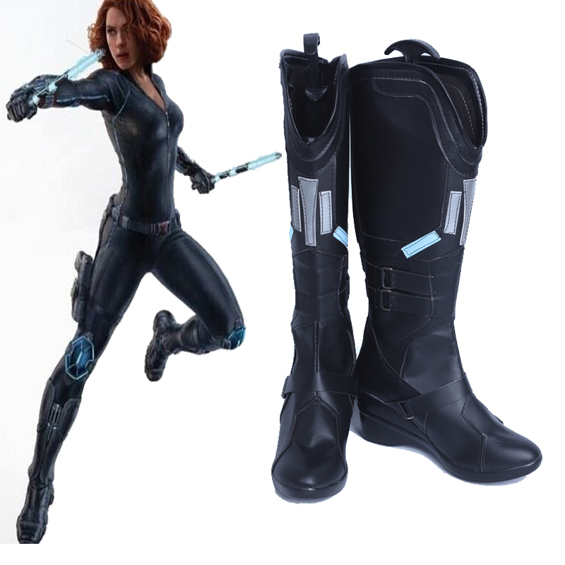 Us 72 0 Original The Avengers Age Of Ultron Black Widow Natasha Romanoff Cosplay Shoes Boots Costume Accessories Customize In Shoes From Novelty