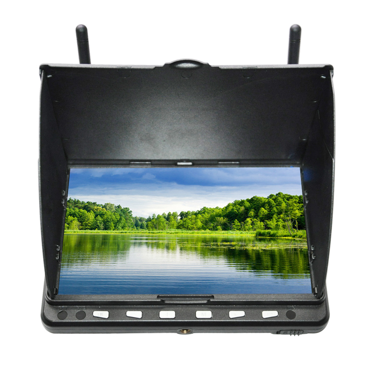купить Skyzone HD02 40CH 5.8G 7 Inch 1024x600 HD FPV Monitor HDMI With/Without DVR Build in Battery