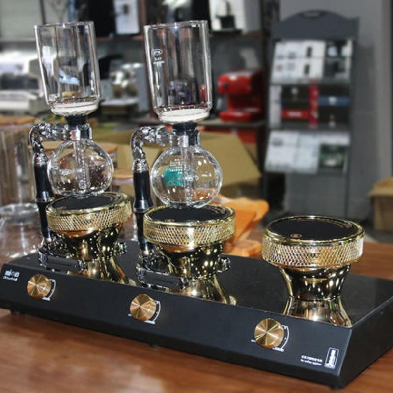 Quemador de luz halógena de 3 cabezales calor infrarrojo fr Hario Yama máquina de café Syphon