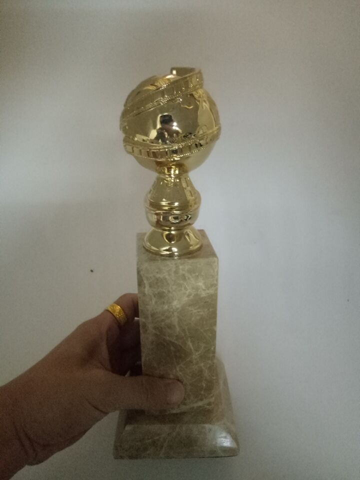 Golden Globe Award Trophy (10 Inches) with HFPA Logo Stamped In Gold-