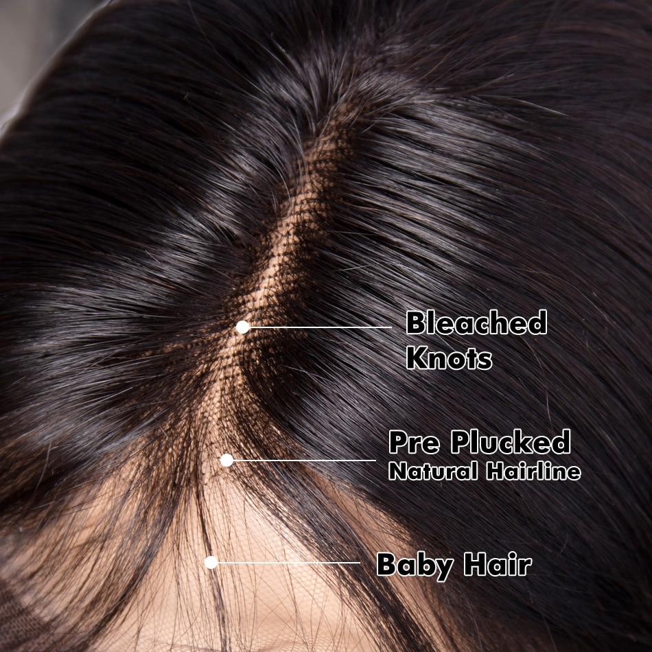 Mi Lisa Bob Lace Front Parycker Humain Hair Remy Brasilian Hair Paryk - Mänskligt hår (svart) - Foto 4