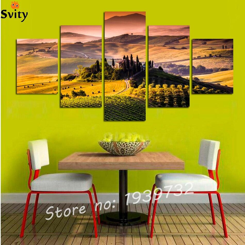 ୧ʕ ʔ୨5 panel moderno impreso Alta Montaña bosque cuadro cuadros ...