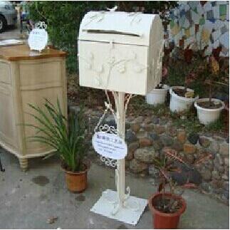 Ex cafeter a decorada buz n parque villa exterior caja bandeja de entrada postal adornos de boda - Buzon vintage ...