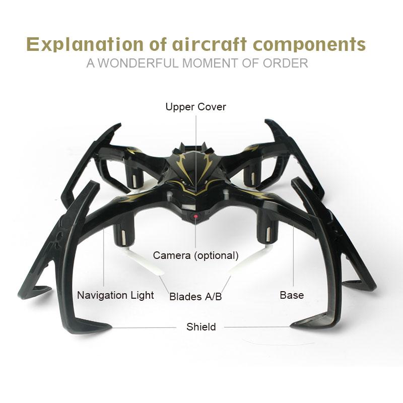 2.4G 6-Axis Gyro RC Drone con cámara Spider Quadrocopter Drones RC - Juguetes con control remoto - foto 4