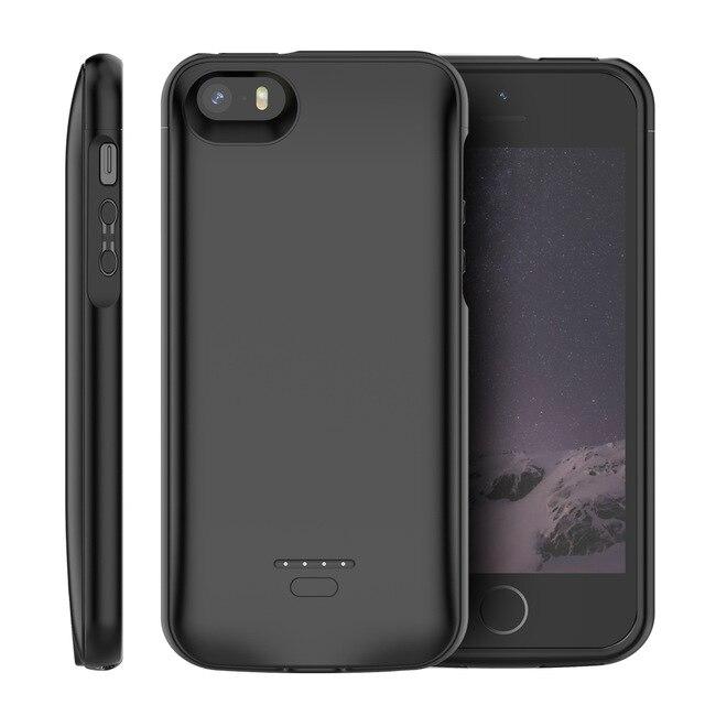 Carregador de Bateria Case Para iPhone 5 5SE SÉ CASEWIN 5S Powerbank Carregador Banco do Poder 4000 mAh Caso De Carregamento Caso Para caso iPhone 5