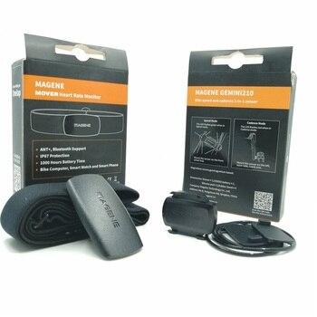Monitor de ritmo cardíaco y velocidad de bicicleta Magene Mover, Sensor 2 en 1 Gemini 210 Compatible con ANT y Bluetooth 4,0