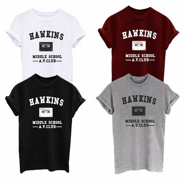 Stranger Things Hawkins Middle School Av Club T Shirt Men Cotton T