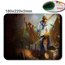 League of legends gangplank marinero printing design of rubber gaming mouse pad measurement 180 mm * 220 mm * 2 mm for the workplace present