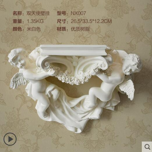 European style rural creative angel wall hanging decoration wall decoration resin home decoration wall shelf in Vases from Home Garden