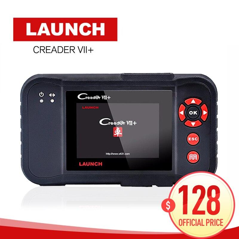 Оригинал Авто читальный инструмент кодов Launch X431 Creader VII + Creader VII Плюс обновление через официальный сайт OBDII сканер же как CRP123 ...