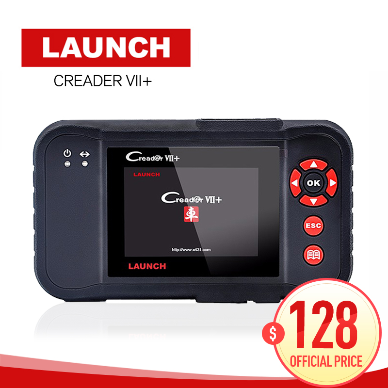 Original Auto Code Reader Launch X431 Creader VII Plus Update Via Offical Website OBDII Scanner Same as CRP123 code scanner obd2 цены