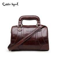 Cobbler Legend Boxy Design Genuine Leather Women Handbag Brand Fashion Shoulder Bag Crossbody Vintage Handmade Old Classic Tote