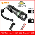 XM-L T6 3800LM Ttactical Flashlight Aluminum Waterproof Zoom CREE LED Torch Light for Rechargeable AC/EU/UK/AU Charger