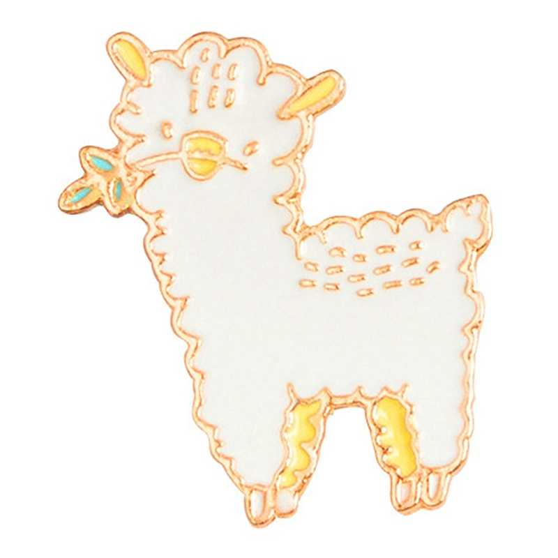 Cartoon Animal Sheep Baby Enamel Pins Icons Collar Brooches For Women Lapel Pin Brooch Jewelry Clothing Bag Accessories
