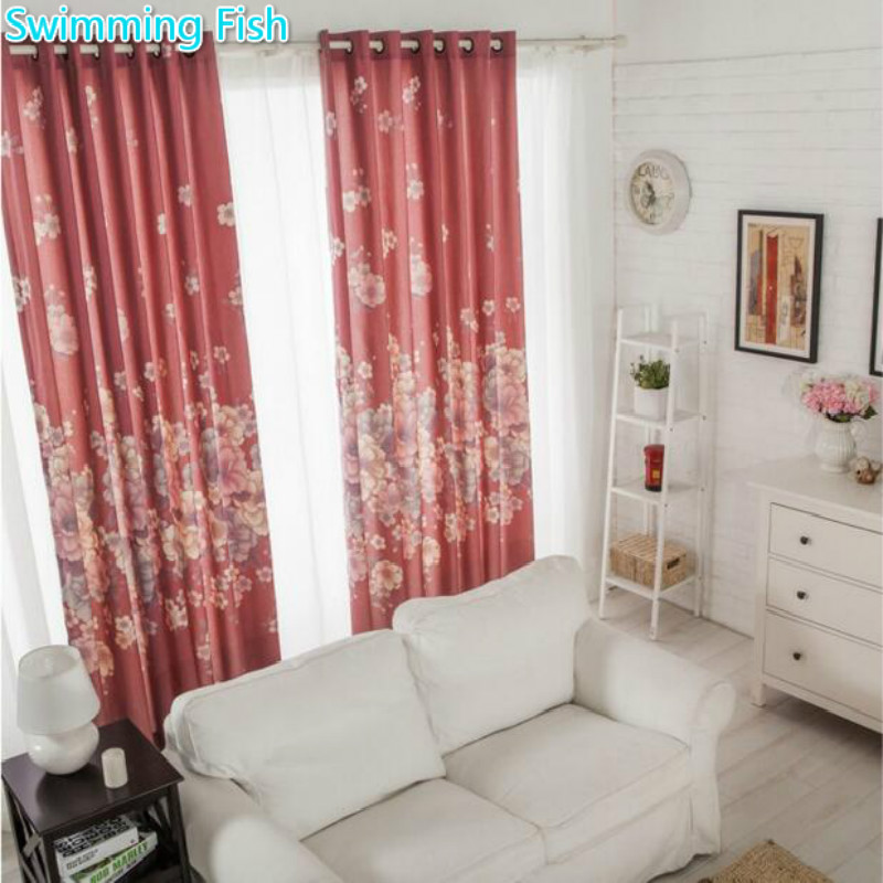 XYZLS New Romantic Rustic Cherry Blossoms Cortinas Tulle Curtain and ...