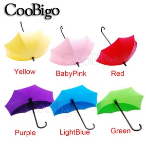 Липкая Вешалка-крючок в форме зонта, креативная вешалка для ключей, домашний декоративный держатель, настенный крючок для кухни/ванной/спальни/гостиной