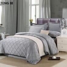 Egyptian cotton luxurious Deep purple bedding sets 4pcs queen king bedlinen bedclothes comfortable Duvet cover set hotel noble