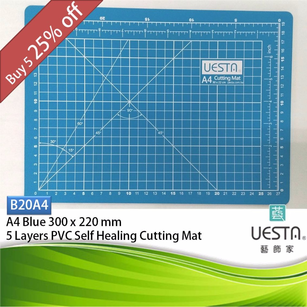 Uesta Blue 2 0 Mm Rectangle Self Healing 5 Layers Pvc