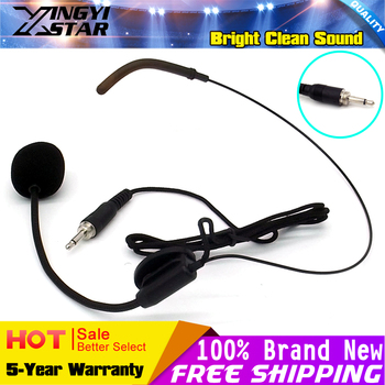 10Pcs 3.5mm Screw Thread Plug Headworn Headset Microphone Earhook Headband Mic Microfone Mike For Wireless BodyPack Transmitter