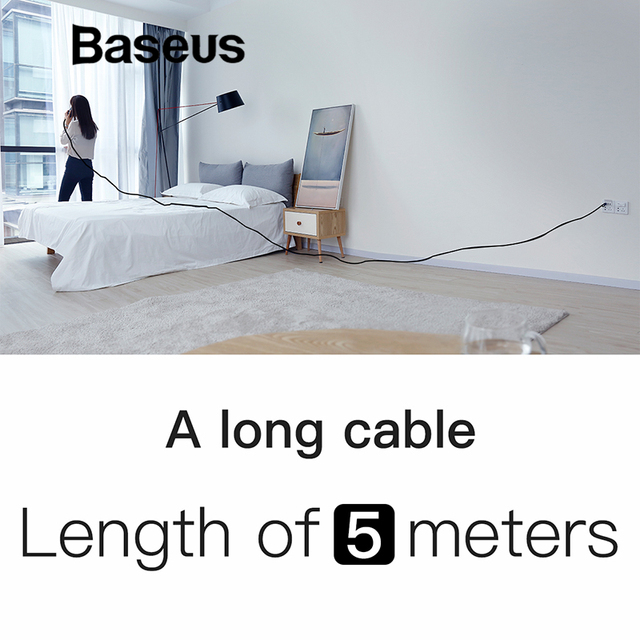 Baseus Amazing 5M Long Cable USB Type C Fast Charging Cable