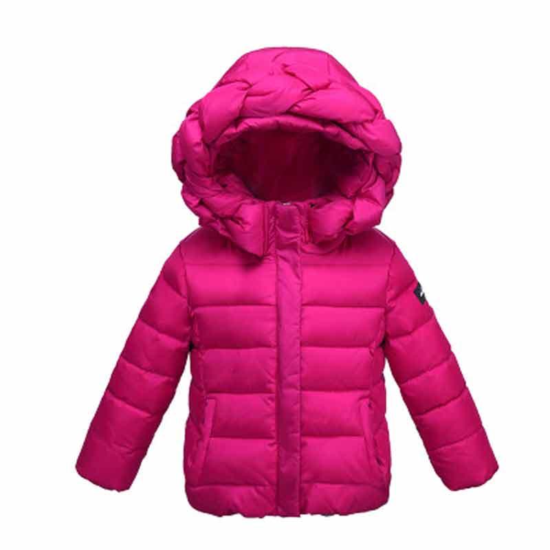Fashion Girl's Duck Down Hooded Jackor Coats Winter Baby Coats Tjocka - Barnkläder