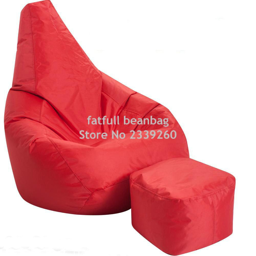 Cover Only No Filler Red Waterproof Drop Bean Bag Chair