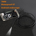 7mm Lens USB Endoscope 6 LED IP67 Waterproof Camera Endoscope 1M, Mini Camera Mirror As Gift Android OTG Phone Endoscopio