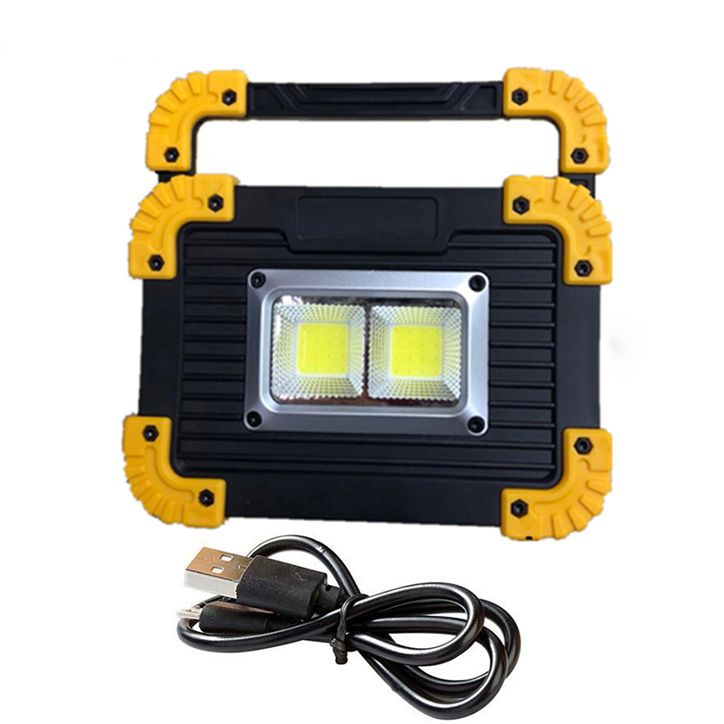 20W Rechargeable COB LED Work Light Multifunction Torch Handy Flashight Lamp Camping Tent Light Emergency Inspection Lanterna