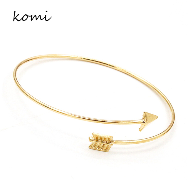 KOMi Korean Fashion Concise Design Gold Silver Plated Alloy Arrow