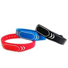 125khz rfid pulseira de silicone ajustável à prova dwaterproof água keyfob token tk4100 id tags 1 pçs piscina sauna quarto