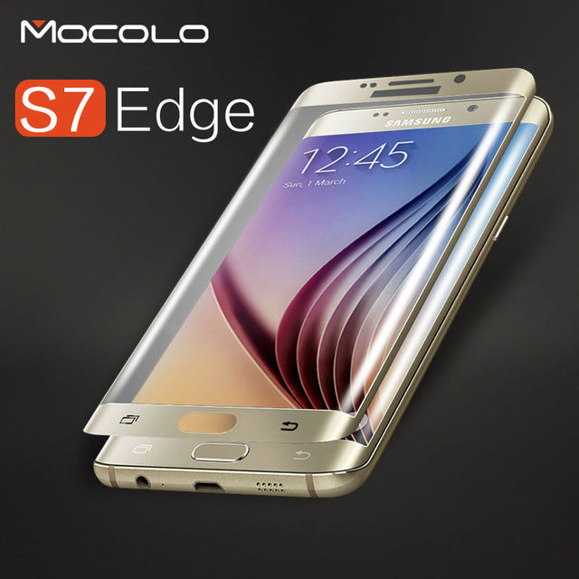 Luxury Electroplating S7 Edge Glass Film Curved Surface 3D Full Cover Tempered Glass For samsung galaxy s7 edge screen protector