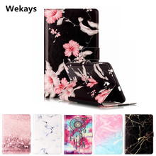 Wekays Tablet Case For Samsung Galaxy Tab E 8.0 T377 T377V Cover Flip Leather PU Stand Kickstand Cartoon Windbell Funfas