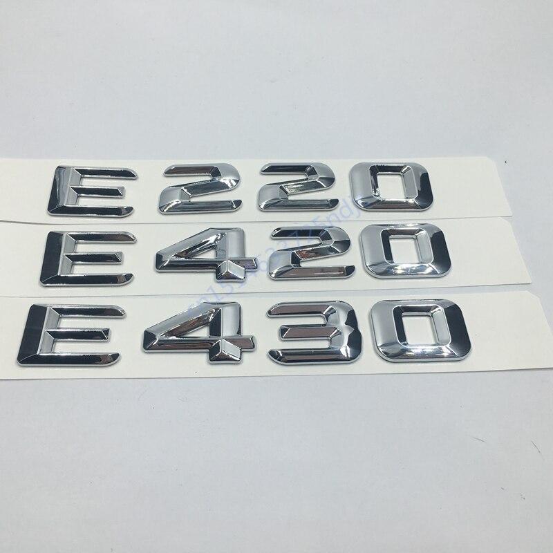 для Мерседес-бенз W124 W211 Мерседес E-класса Е220 Е420 e430 для багажник задний эмблема значок хром письма