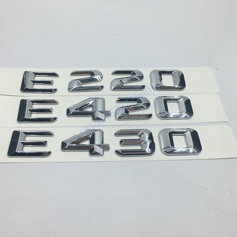 for <font><b>Mercedes</b></font> Benz <font><b>W124</b></font> W211 E-CLASS E220 E420 E430 Trunk Rear Emblem Badge <font><b>Chrome</b></font> Letters image