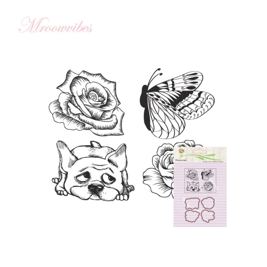 House LC New Metal Cutting Dies Stamp Stencils DIY Scrapbooking Photo Album Decor Cards L 18Apr24 Dropshipping