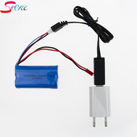 USB 충전기 EU 플러그 7.4 볼트 1500 미리암페르하우어 18650 15C 리튬 이온 배터리