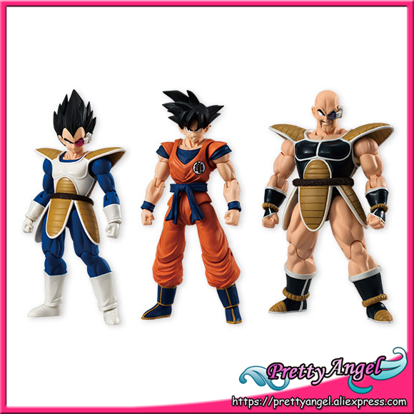 Japan Anime Original Bandai Tamashii Nations SHODO Vol.4 Dragon Ball Z Action Figure - Full Set - Son Goku & Vegeta & Nappa dmz vol 12 five nations ny