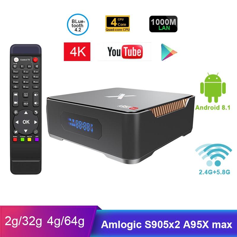 NEW 2019 A95X MAX X2 Android 8 1 4G 64G Amlogic S905X2 2 4G 5G Wifi