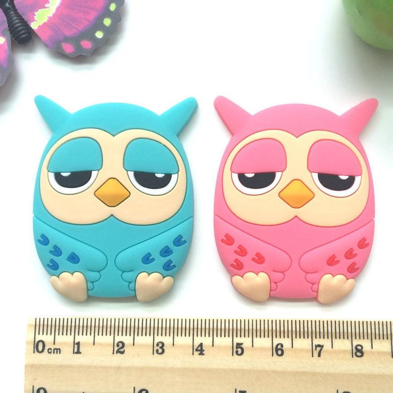 1PCS Creative Owl Fridge Magnets Silicone Gel for Kids Gift Home Decor Animal